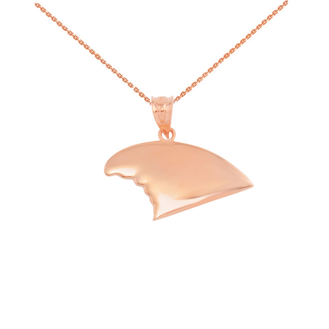 Rose Gold Shark Fin Pendant Necklace