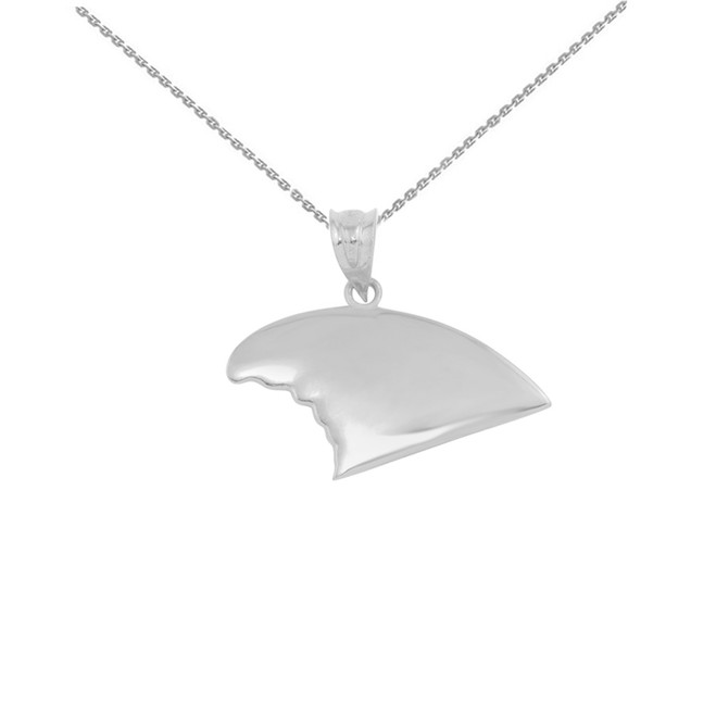 Sterling Silver Shark Fin Pendant Necklace