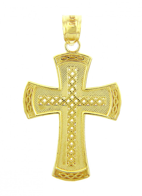 Yellow Gold Cross Pendant - The Symbol Cross
