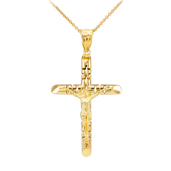 Yellow Gold Crucifix Pendant Necklace - The Love Crucifix