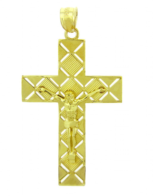 Yellow Gold Crucifix Pendant - The Power Crucifix