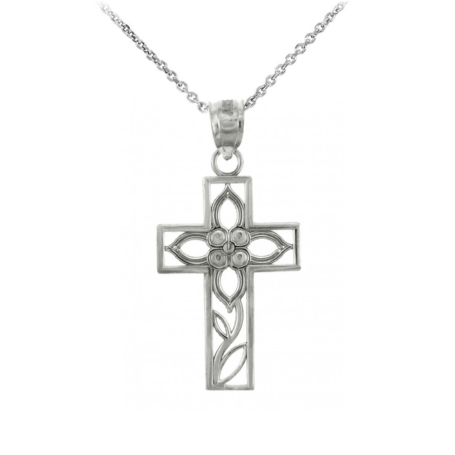Sterling Silver Cross Pendant Necklace- The Beauty Cross