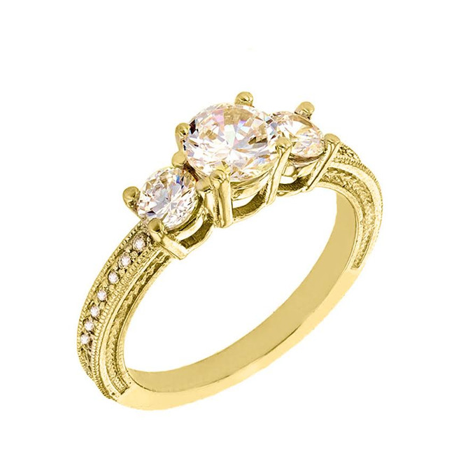 Yellow Gold Very Elegant Engagement/Promise Ring