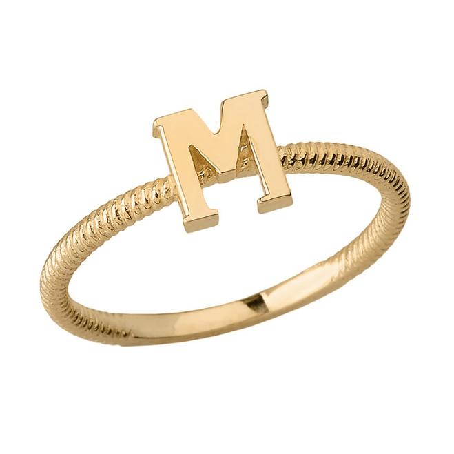 M Letter In Ring Rings - Letter ...