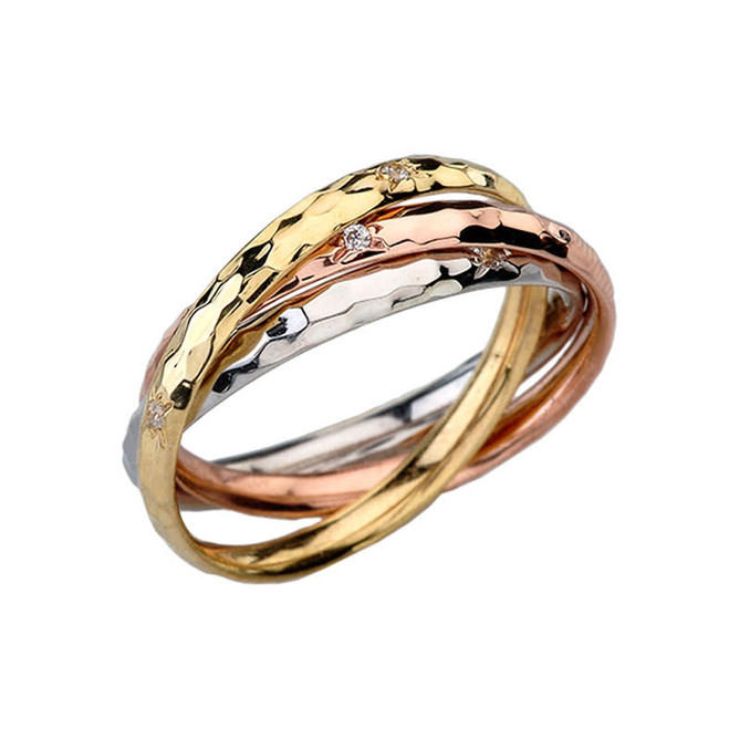 Tri-Colored Intertwined Ring