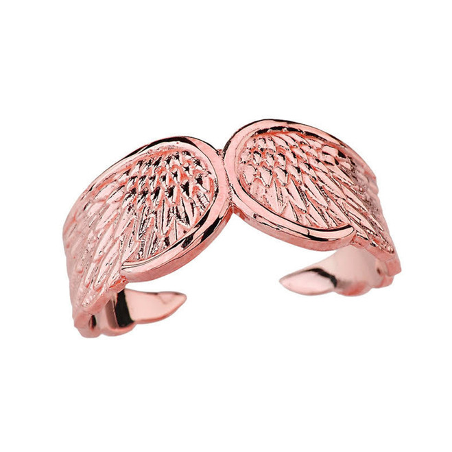 Rose Gold Angel Wing Ring