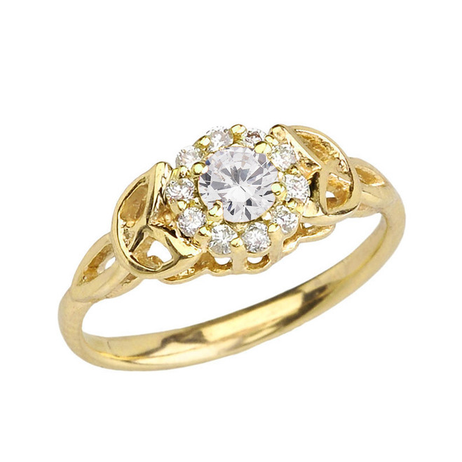 Yellow Gold  Diamond Engagement/Promise Ring