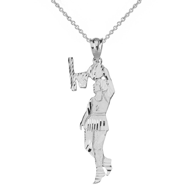 Sterling Silver Women's Basketball Pendant Necklace