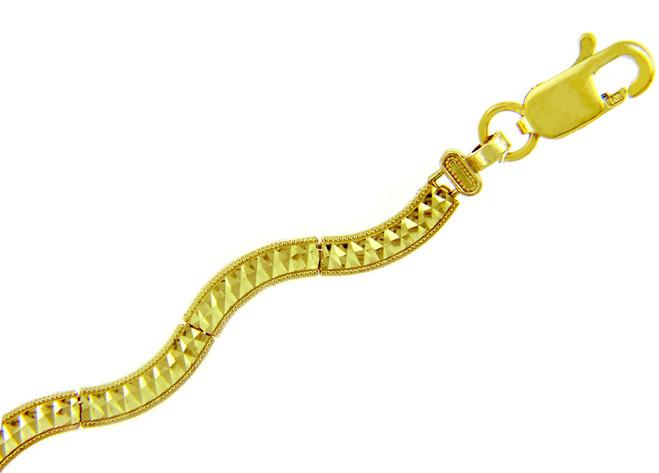 Yellow Gold Bracelet - The Smooth Peace Bracelet