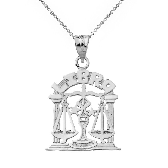 Sterling Silver  Zodiac Libra Pendant Necklace