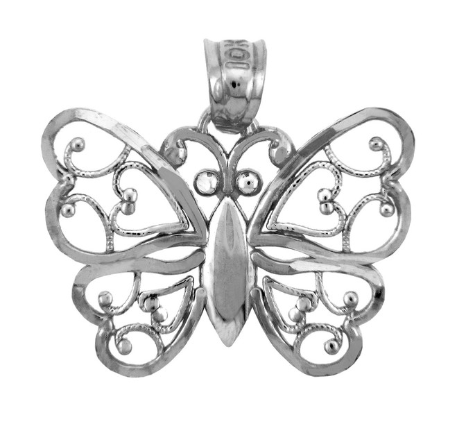 White Gold Charms - The  Aponi Butterfly Charm