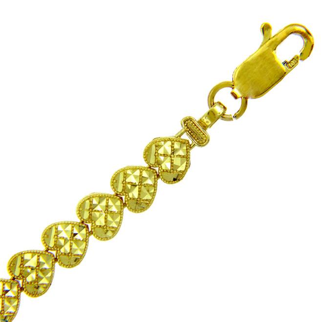 Yellow Gold Bracelet - The Cross My Heart Bracelet