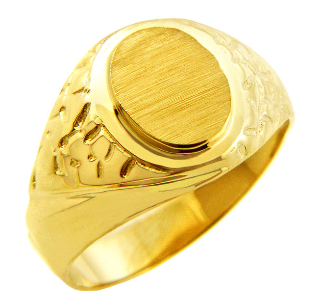 Men's Solid Gold Jovian Signet Ring