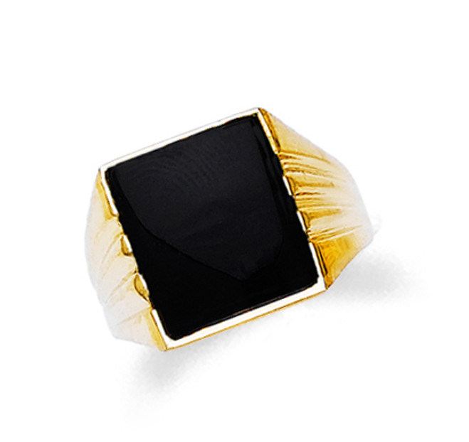 Gold Mens Onyx Ring