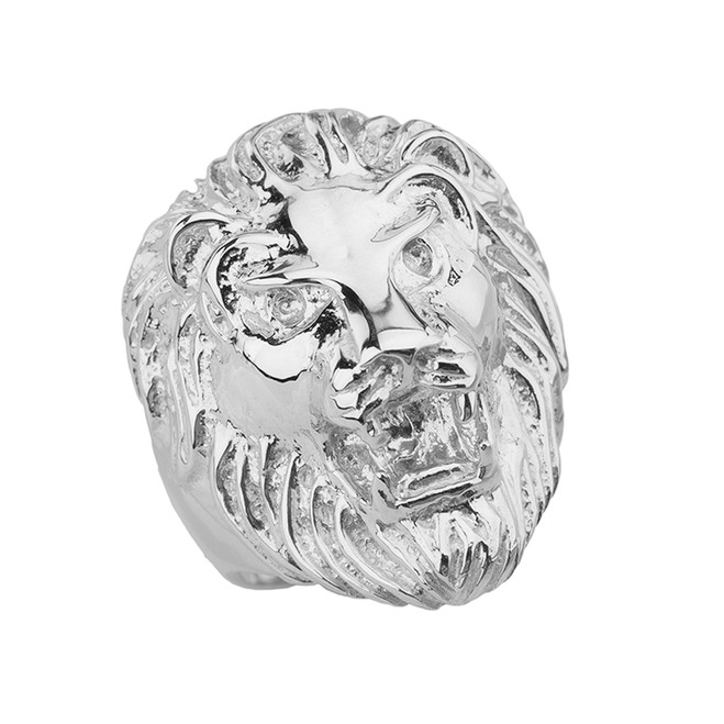 Roaring Lion Ring in Sterling Silver
