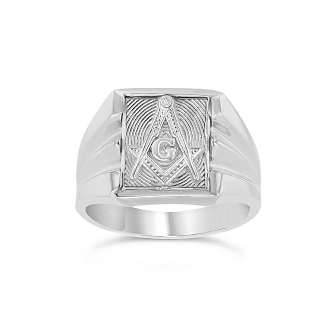 Sterling Silver Masonic Ring