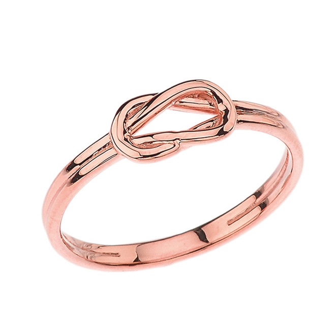 Hercules Love Knot Ring in Rose Gold