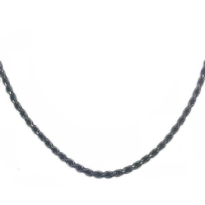 Antic Vintage Oxidized  3mm Rope Chain