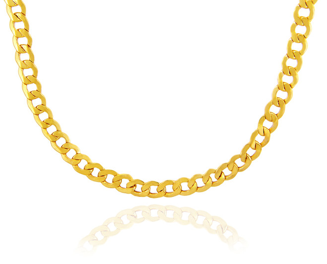 Gold Chains: Hollow Cuban 10K Gold Chain 2.68mm