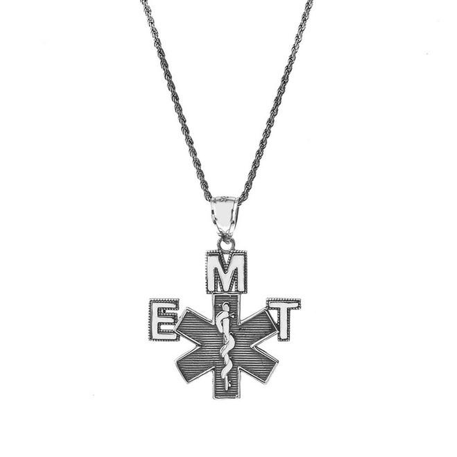 Vintage EMT Pendant Necklace in Sterling Silver