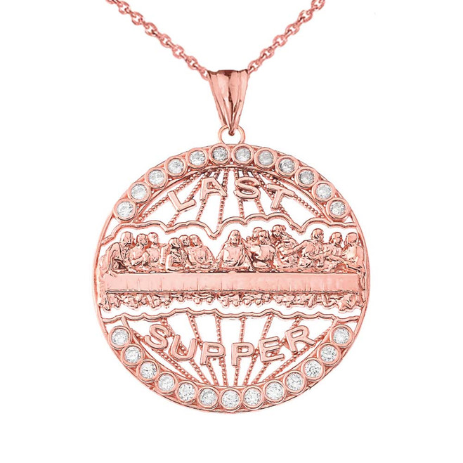 The Last Supper Medallion in Rose Gold