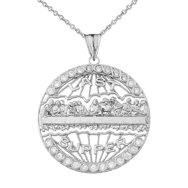 The Last Supper Medallion in Sterling Silver