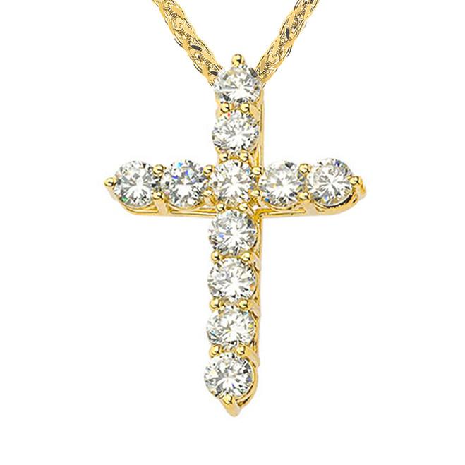 Yellow Gold Elegant Pendant Necklace (XS-XL)
