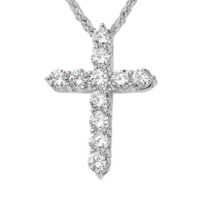 White Gold Elegant Pendant Necklace (XS-XL)