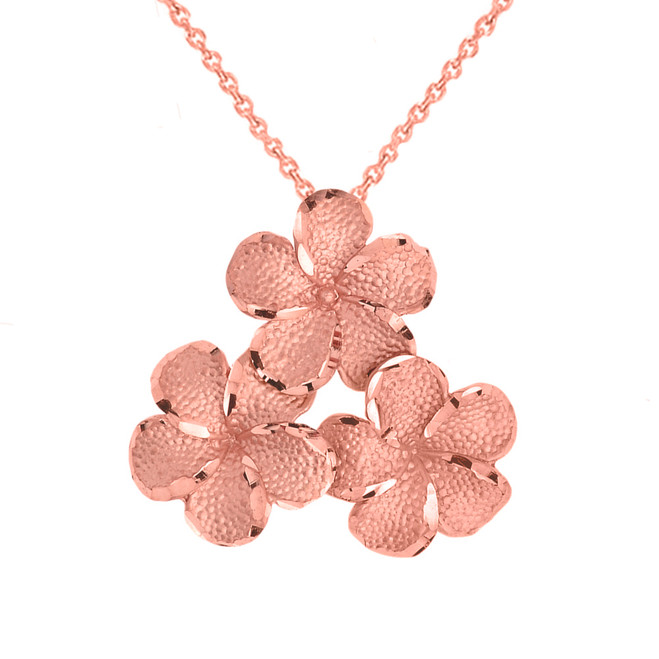 Plumeria Flowers in Rose Gold