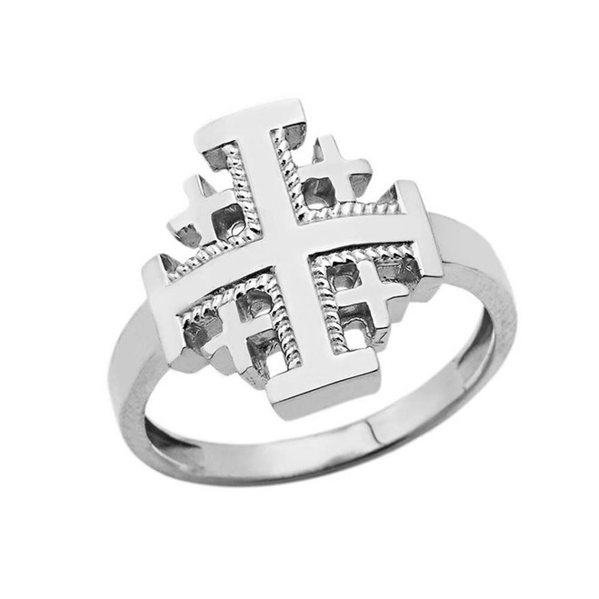 Jerusalem Cross Ring in Sterling Silver