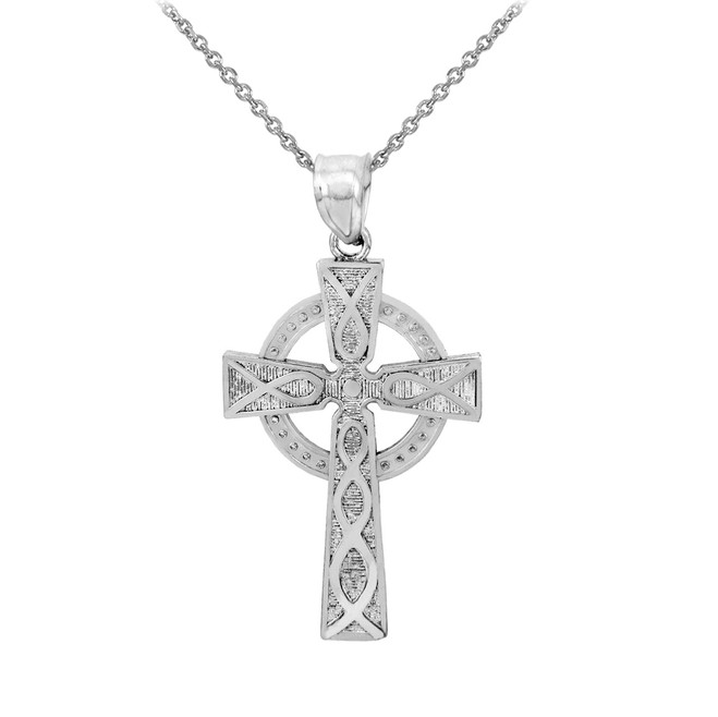 Sterling Silver Trinity Cross Pendant Necklace