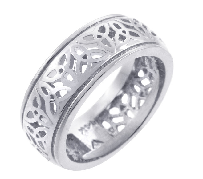 Celtic Band - Silver Celtic Trinity Knot Ring