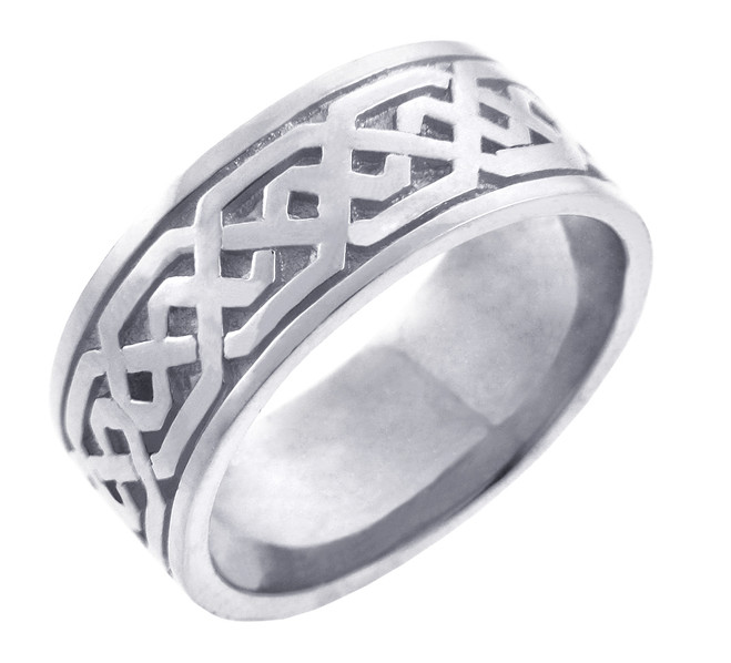 Men's Celtic Band - Silver Celtic Knot Ring