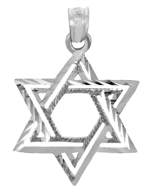 Jewish Charms and Pendants - Silver Double Star of David