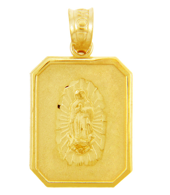 Gold Pendants - The Our Lady Guadalupe Gold Pendant