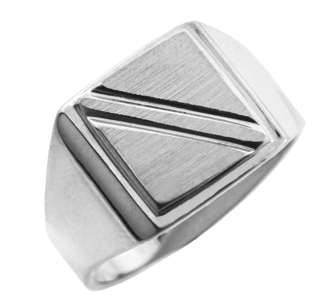 The Jove Solid White Gold Signet Ring
