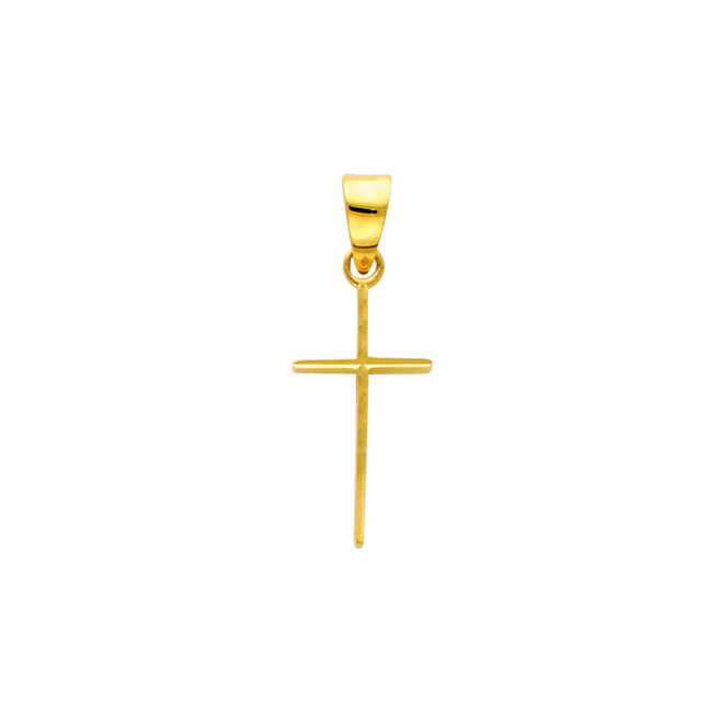 Dainty 14K Gold Cross