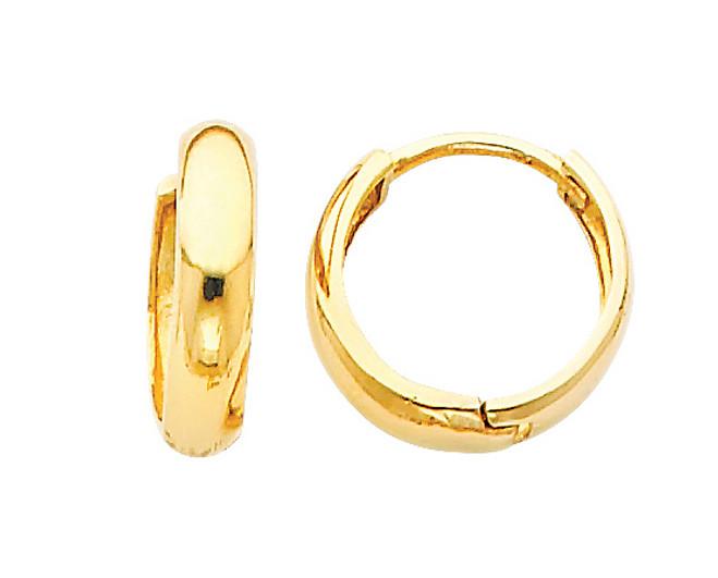 Bold Yellow Gold Huggie Earrings
