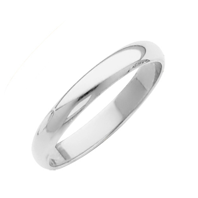 White Gold Classic Wedding Band - 2MM