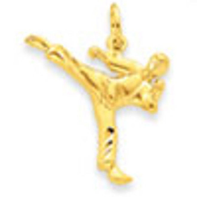 14K Gold Male Karate Charm
