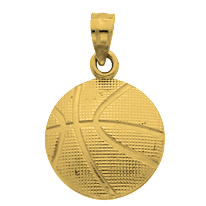Yellow Gold  Basketball  Pendant