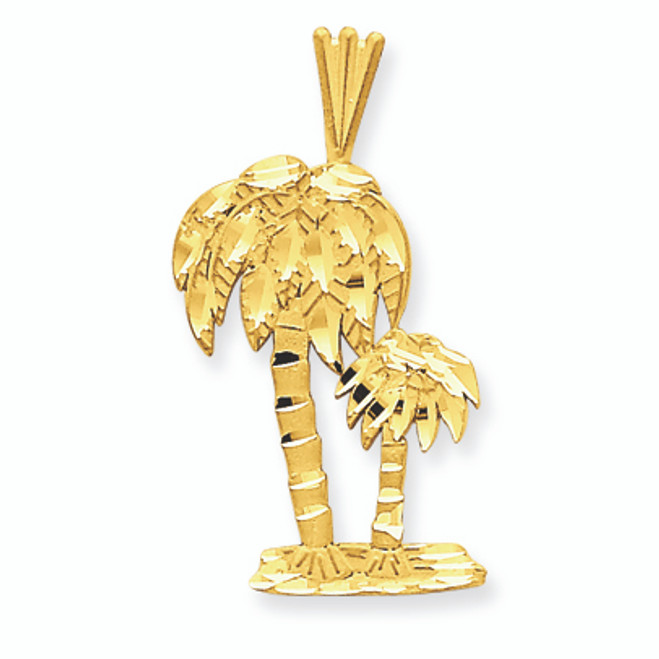 14K Gold Palm Trees Charm