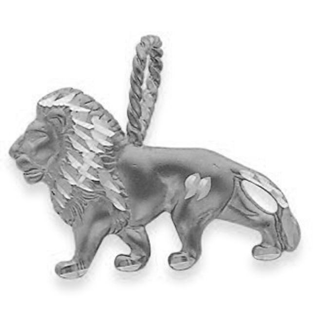 925 Sterling Silver Lion Charm Pendnat