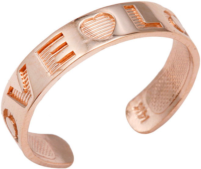 "Rose Gold ""LOVE"" Toe Ring"