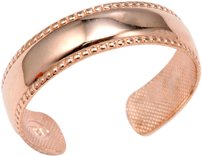 Rose Gold Bold Toe Ring