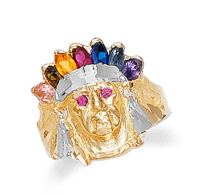 Indian Ring Indian Head Ring Indian Chief Ring
