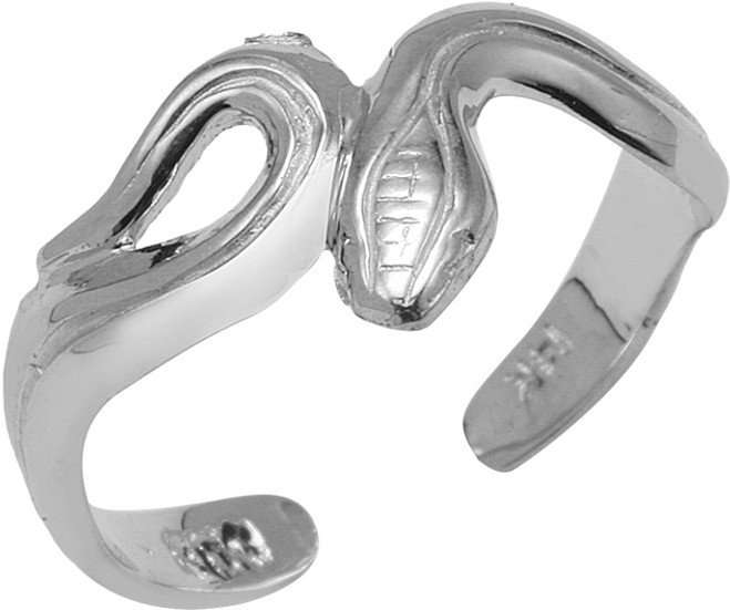 925 Sterling Silver Snake Toe Ring