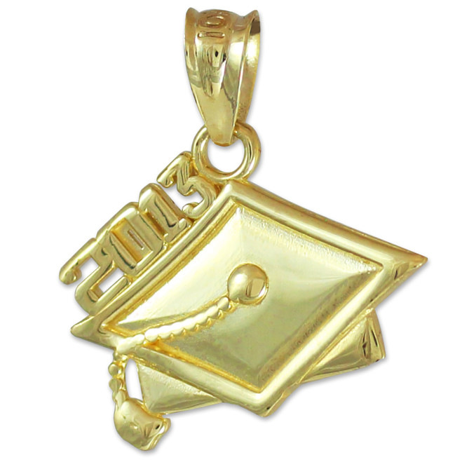 2013 Graduation Gold Charm Pendant