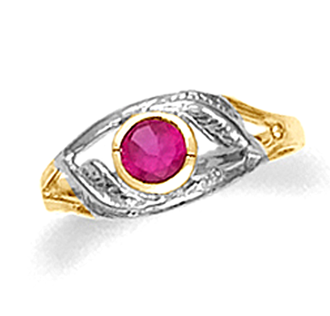 Baby Ruby Swirl Ring