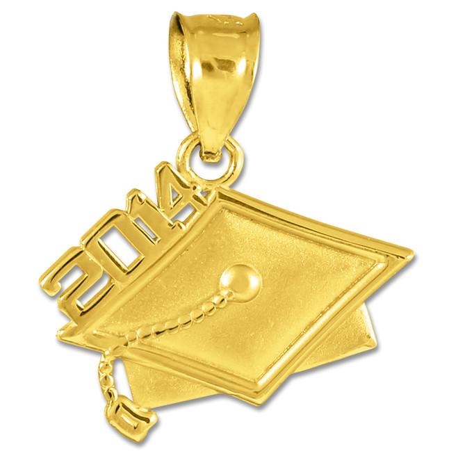 2014 Graduation Gold Charm Pendant